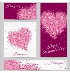 romantic card romantic heart happy valentines vector image