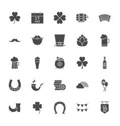 saint patrick solid web icons vector image
