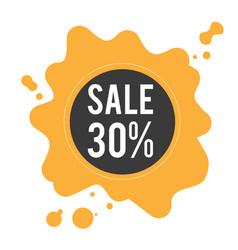sale 30 black circle frame orange background vect vector image