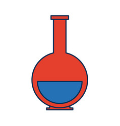 School chemical laboratory flask with liquid vector