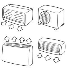Set air conditioner vector