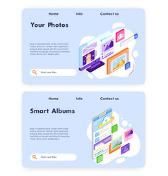 smart photo album online upload photos to cloud vector image
