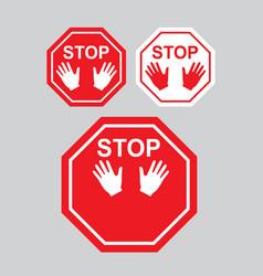 stop sign warning danger symbol vector image