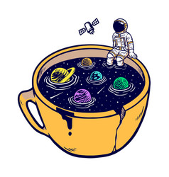 Universe in my cup vector