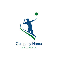 volleyball player logo vector image