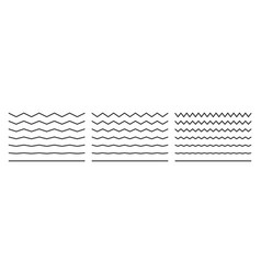 Wave lines wavy zigzags and squiggly pattern vector