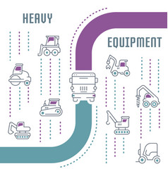 website banner and landing page heavy equipment vector image