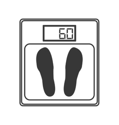 Weighing scale icon vector