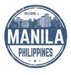 Welcome to manila sign or stamp vector