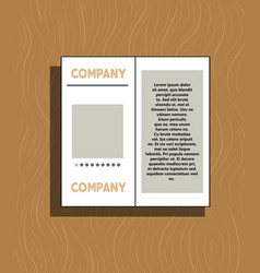 White business brochure and leaflet flyer cover vector
