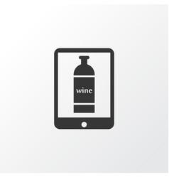 wine in the tab icon symbol premium quality vector image