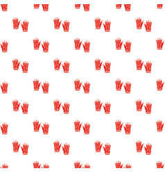 Winter gloves pattern vector