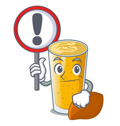 with sign lassi mango in a cartoon glass vector image
