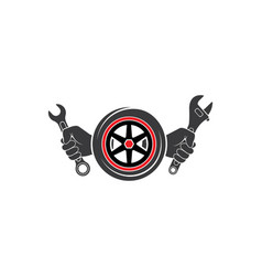 Wrench icon automotive service vector