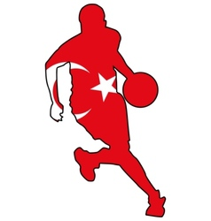 basketball colors of Turkey vector image