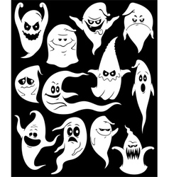 Ghosts vector image vector image