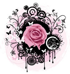 grunge rose abstract vector image