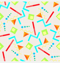 seamless background geometric elements on vector image