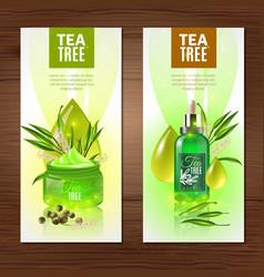 tea tree vertical banners vector image vector image