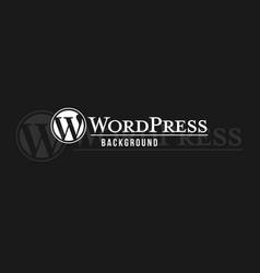 wordpress logo background image vector image