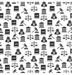 law and justice seamless pattern vector image
