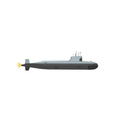 navy submarine icon underwater military transport vector image