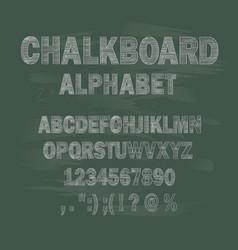 chalkboard school alphabet vector image