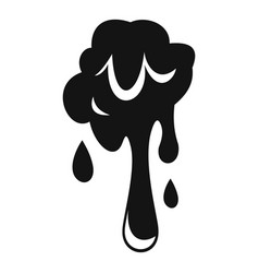 dripping slime icon simple style vector image