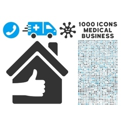 Excellent House Icon with 1000 Medical Business vector image
