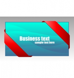 new red corner business ribbon vector image