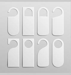 paper plastic door handle lock hangers set vector image