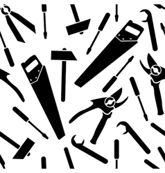 seamless pattern of a icons of tools vector image