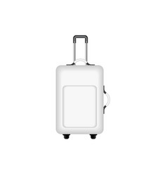 travel suitcase in black and white design vector image vector image