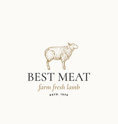 best meat farm fresh lamb abstract sign vector image