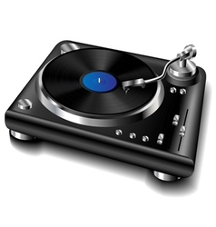 Black turntable vector image vector image