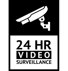 label CCTV vector image vector image