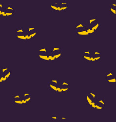 seamless pattern of grinning halloween face vector image