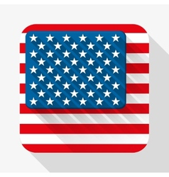 Simple flat icon USA flag vector image vector image