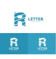 unique letter r logo design template vector image vector image