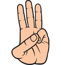 3 fingers color vector