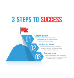 3 steps to success vector image