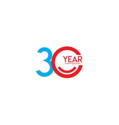 30 year anniversary celebration template design vector