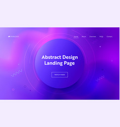 abstract purple circle landing page background vector image