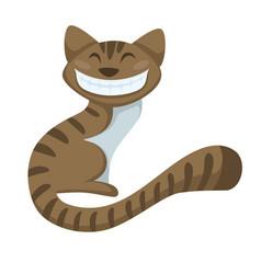 Alice in wonderland fairy character cheshire cat vector
