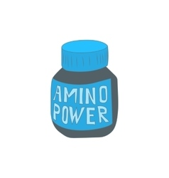 Amino acids icon cartoon style vector