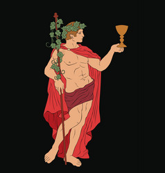 Ancient greek god dionysus vector