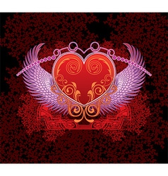 Angelic Love Heart Design vector