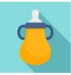 Baby water bottle icon flat style vector