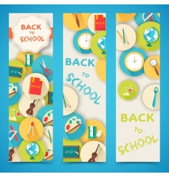 back to school abstract background of flat icons vector image