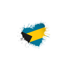 bahamas flag on a white vector image